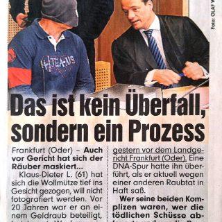 Zeitungsbericht der BILD Zeitung vom 16.03.2012 aus Frankfurt (Oder) zum Überfall-Strafprozess